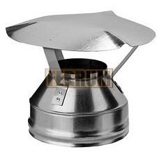 Оголовок Ф110х200 - оцинкованная сталь К